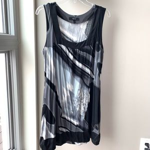 Express watercolor dress size Large